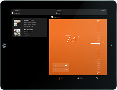 ipad device interface